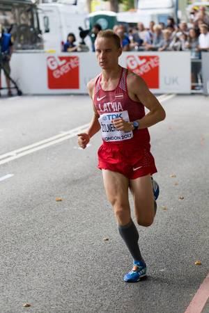 Valerijs Žolnerovics (Marathon Finale) bei den IAAF Leichtathletik-Weltmeisterschaften 2017 in London