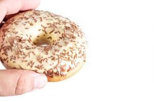 Vanilla Donut in the hand