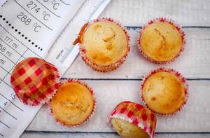 Vanilla Muffins Close-Up