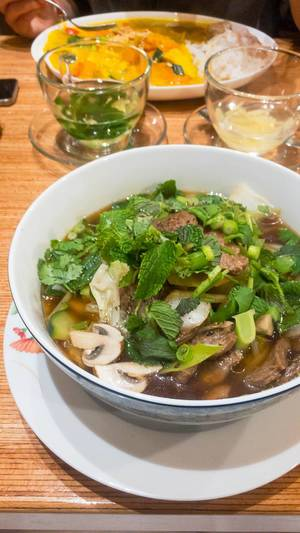 Vegan pho soup