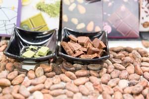 Vegane Schokolade in verschiedenen Geschmacksrichtungen - Veganfach 2017