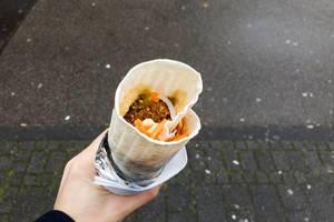Veganer Falafel Dürüm