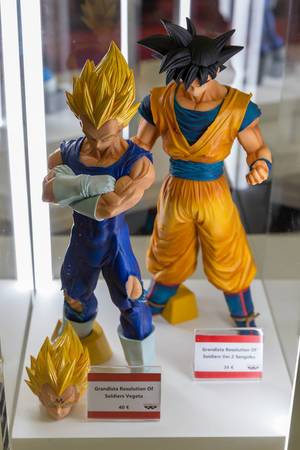 Vegeta and Sangoku Ver. 2 action figures