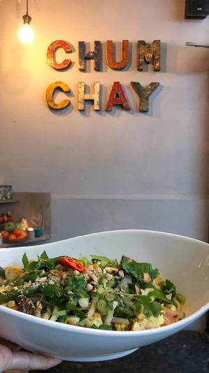 Vegetarian food served at Vietnamese restaurant Chum Chay in Cologne