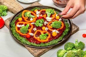 Vegetarische Pizza selber machen - sehr gesund