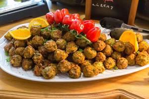 Veggie Köttbullar as meatless substitute to Swedish meatballs for vegetarians
