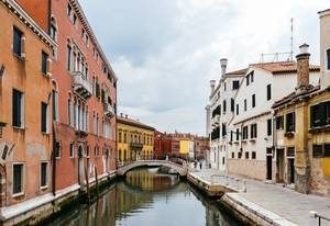 Venetian canal and bridge