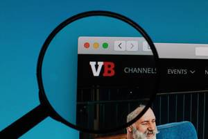VentureBeat logo under magnifying glass