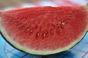 Verdorbene Wassermelone