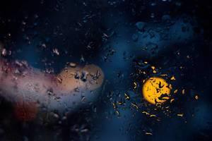 Verregnete Nacht / Drops on a window