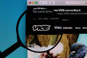 VICE logo under magnifying glass