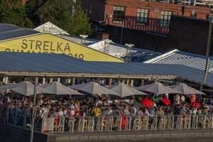 Viele Besucher beim Strelka Summer 2018 Festival