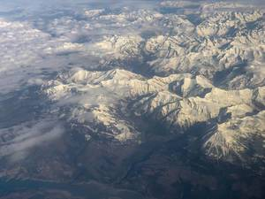 View at the Alps from way up