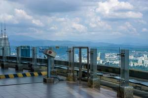 View from the Sky Deck at KL Tower in Kuala Lumpur