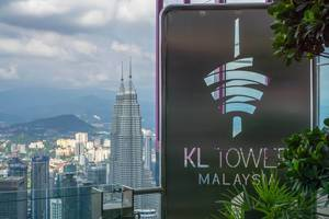 View of Petronas Twin Towers from KL Tower in Kuala Lumpur