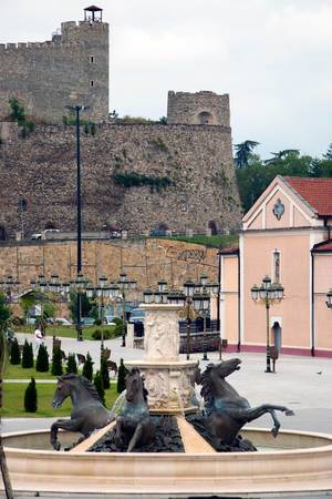 View on Skopje Fortress from main square