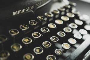 Vintage-Tastatur einer alten Schreibmaschine