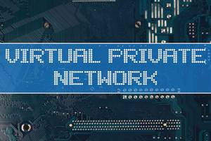 Virtual private newtwork text over electronic circuit board background