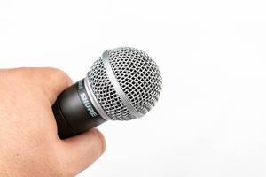 Vocal Microphone in the hand