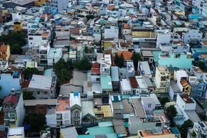 Vogelperspektive von Saigons Viertel 7