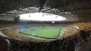 Volles Maracanã-Stadion - Fußball-WM 2014, Brasilien