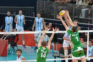 Volleyball Argentina-Bulgarien bei den London Olympics 2012