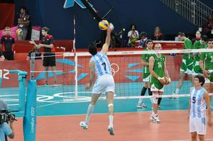 Volleyball Argentina gegen Bulgarien - London Olympics 2012
