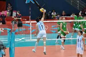 Volleyball Argentina gegen Bulgarien - London Olympics 2012