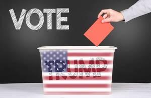 Vote for Trump concept