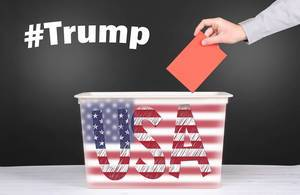 Vote for Trump Presidental Election concept