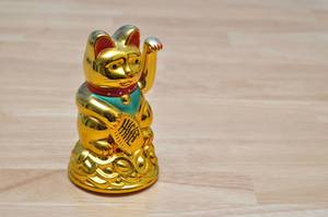 Wackelkatze / Waving Gold Cat  aus Chinatown, Bangkok, Thailand