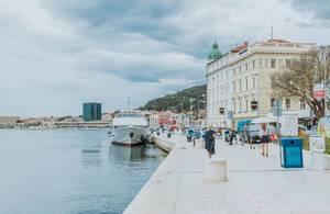 Walking along the harbor, Split, Croatia