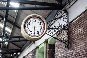 Wall Clock in a Railroad Station