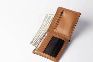 Wallet with credit cards and banknotes  Flip 2019