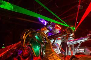 War Robot with Laser Show