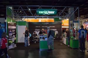 Warenstand von Kontrolfreek bei der Gamescom 2017