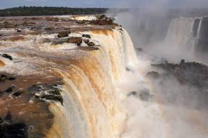 Wasserfall in Iguazu (Brasilianische Seite)
