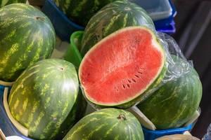 Wassermelonen am Danilovsky Market in Moskau