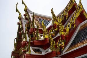 Wat Pho Complex in Bangkok - Kunstvolle Dächer