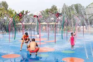 Water Games in Botanic Garden, Singapore