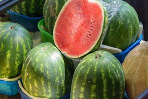 Watermelons at Danilovsky Market in Moscow
