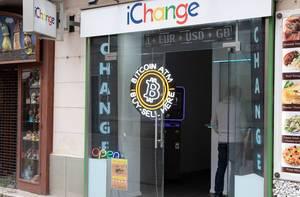 Wechselstube für Fremdwährungen und Bitcoins in Budapest, Ungarn