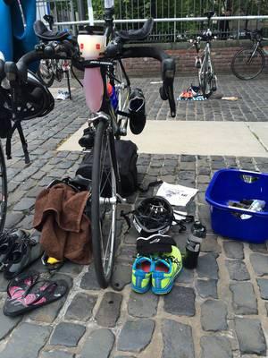 Wechselzone beim Triathlon
