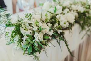 Wedding Decor Of White Roses (Flip 2019)
