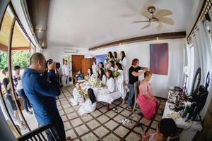 Wedding shoot of the bride at Punta Bulata