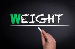 Weight text on blackboard