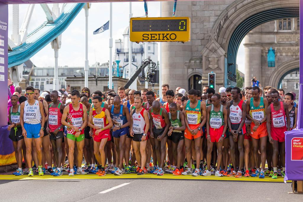 Weltmeisterschaft 2017 im Marathon: Start der Männer