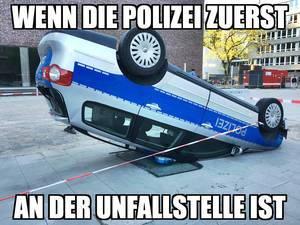 Wenn die Polizei zuerst an der Unfallstelle ist