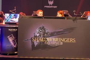 Werbung für das Multiplayer Online Role-Playing Game FINAL FANTASY XIV: Shadowbringers