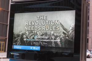 """Werbung für Kryptowährungsbörse Gemini in Chicago: """"Die Revolution braucht Regeln"""""""